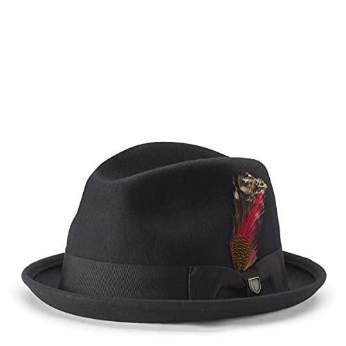 Gain Wool Player Cappello Brixton cappelli da uomo cappelli di feltro 56 cm - nero