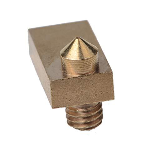 Guangcailun Brass Integrated Heating Block Nozzle Extruder Nozzle m Brass Extruder Nozzle Filent Accessory for 3D Printer, 0.m Caliber