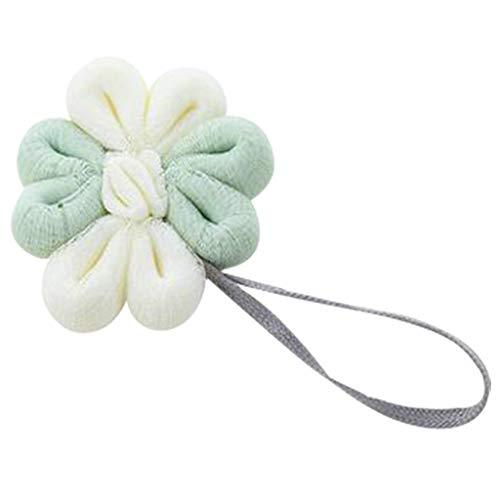 Mischfarbe nettes Bad weiche Ball erwachsene Mode weiche schnelle Schaumbad Ball Badezimmer Zubehör weiche Blase zurück Dusche Ball (Grün)