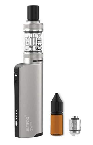 電子タバコ JUSTFOG Q16 pro KIT ヴェポライザー 加熱式たばこ ジャストフォグ スターターキッド リキッド専用 VAPE サービス品 交換用コイル ユニコーンボトル付き (Silver)