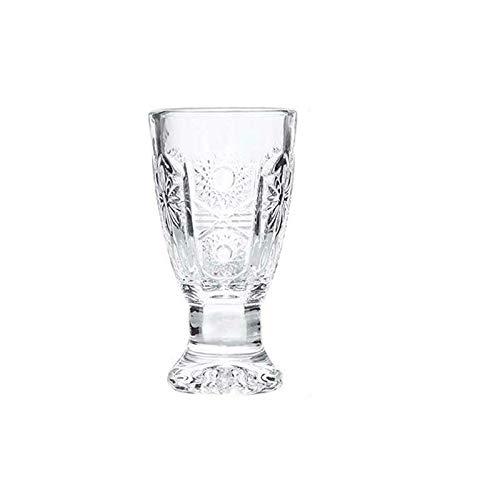 RONGXIANMA Wine Glass Creative Engraved Shot Glasses Lead Free Wine Glass Mini Glass