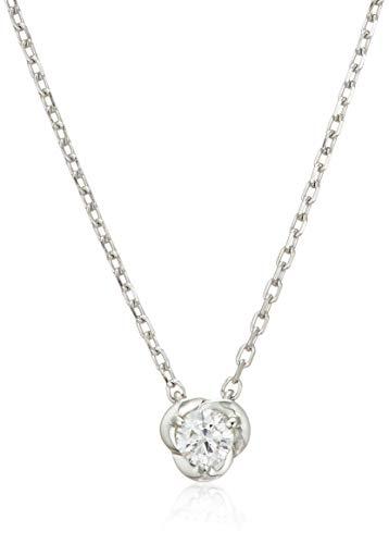 [ヴァンドーム青山] プラチナ ネックレス APVN201140DI ダイヤモンド フラワーネックレス