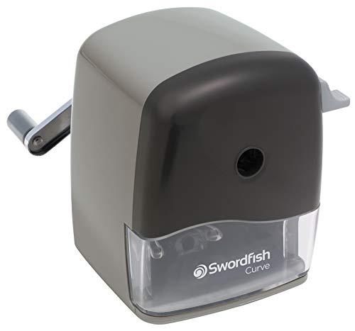 Swordfish 'Curve' Desktop Manual Pencil Sharpener 8-12mm ref 40103