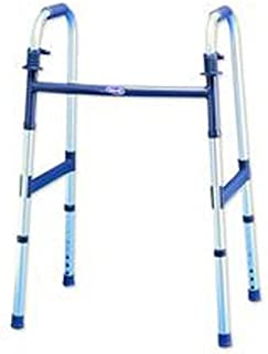 INVACARE CORPORATION INV6291A 1 Each Single I-Class Dual-Release Light Folding Walker Height adjusts 30(3/8) x 37(3/8) Adult Fits usersB 5'3 to 6'4 Warranty INVACARE CORPORATION 6291A