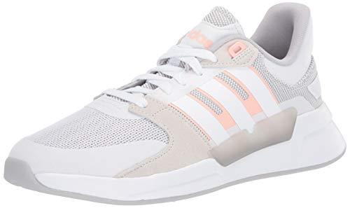 adidas Zapatillas de correr para mujer Run 90s Cloudfoam, blanco (Ftwr Blanco/Ftwr Blanco/Rosa Brillante), 44 EU