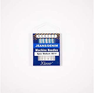 Klasse Jeans Denim Needles, Size 90/14, 1 Pack, 6pcs, AA5103.090