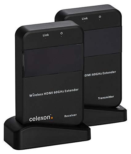 celexon Expert HDMI Radio Set WHD30M transmisión inalámbrica de Medios de comunicación hasta 30m - 4K de resolución UHD - 3D, WiHD 1.1, Dolby True HD, DTS-HD, LPCM.