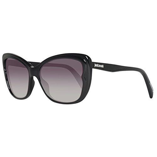 Just Cavalli Damen Jc719s-5801a Sonnenbrille, Shiny Black/Smoke, 16/140/58