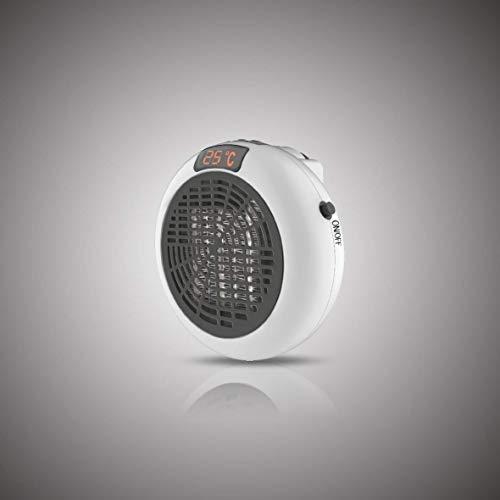 FRX Heizlüfter mobil mit Timer Steckdosen-Heizung 600W Mini Heizung mobiler Heizstrahler (Weiß)
