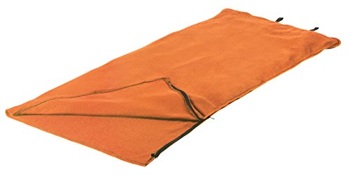 Stansport Fleece Sleeping Bag, Orange, 32' x 75'