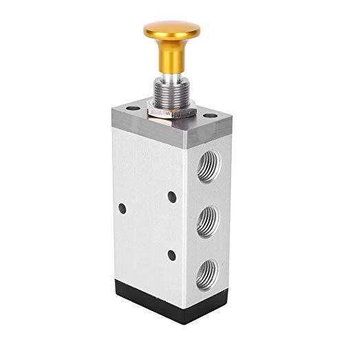 Válvula de botón mecánico Válvula de tracción manual de 2 posiciones y 5 vías Válvula de interruptor manual de aleación de aluminio para sistema neumático(4R310-10)