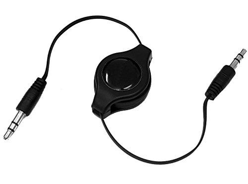 tomaxx Einziehbares 3,5 mm AV Audio Kabel Autoradio Stereoanlage Hi-Fi, Box, AUX Auto Radio für BlackBerry DTEK50