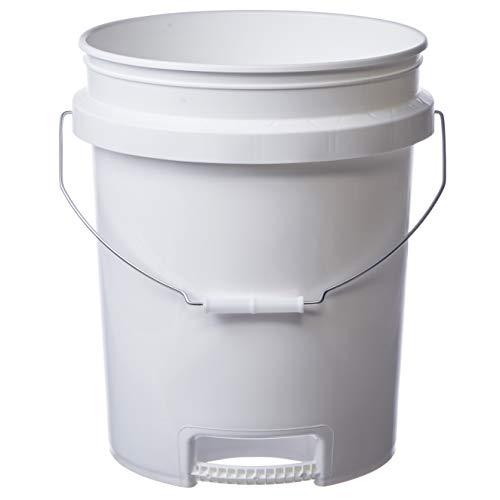 Hudson Exchange 5 Gallon Bucket with Bottom Grip Handle, HDPE