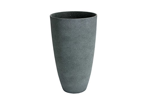 Algreen 43229 Tall Curved Vase Planter, Weathered Grey