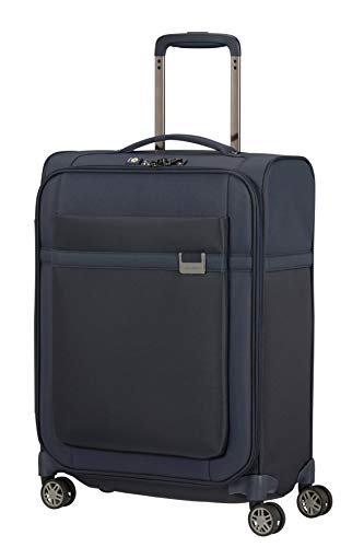 Samsonite Airea Luggage- Carry-On Luggage, Spinner S (55 cm - 41 L), Blue (Dark Blue)