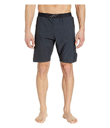 Nike Swim - Pantalones cortos para hombre (lino, 22,8 cm), color negro - NESS9438, Medium, Negro