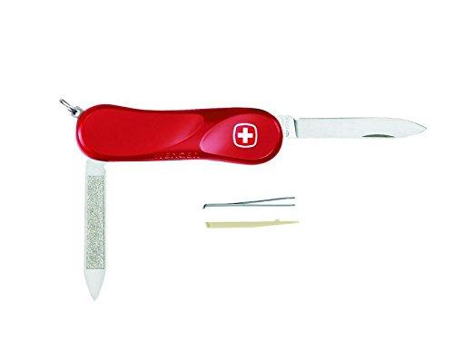 Wenger Taschenmesser - Evolution 80 - Klinge - Nagelfeile - Pinzette - Zahnstocher - Evolution Schalen - Federstahlring
