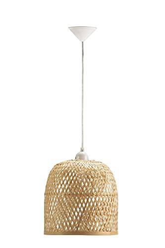 Els Banys Lámpara Techo bambú Aledis, Beige, diámetro 30cm Altura 28cm