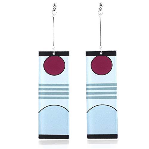 Earrings,Cartoon Earrings Accessories,Japanese Anime Cosplay Cartoon Earrings,kimetsunoyaiba tannjiro Earrings,Acrylic Hypoallergenic Men and Women's Earrings