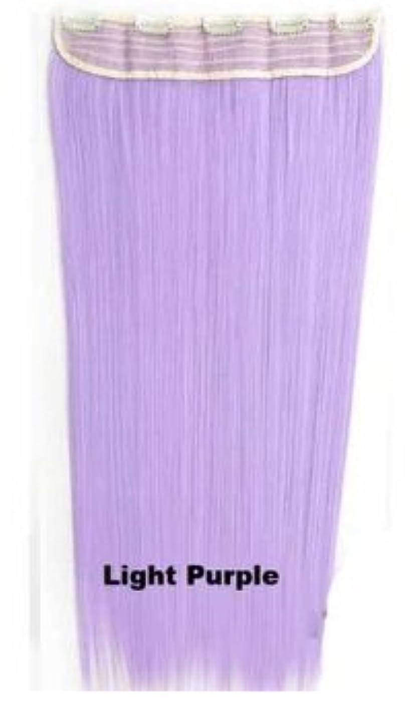 洞察力のある決定解体するBOBIDYEE 60センチメートル/ 150グラム5クリップヘアエクステンションワンピースロングストレートコスプレかつら複数の色のオプション付き合成毛レースのかつらロールプレイングかつら (色 : Light purple)