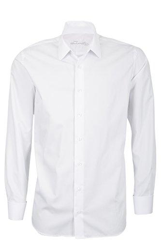 Schaeffer Hemd Modern Cut Uni weiß Eton, Größe: L