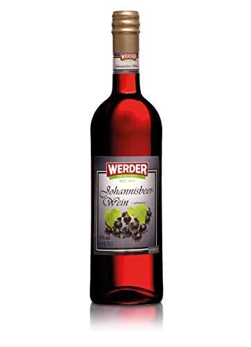 WERDER Schwarzer Johannisbeer Wein 0,75L - Alk. 9% vol