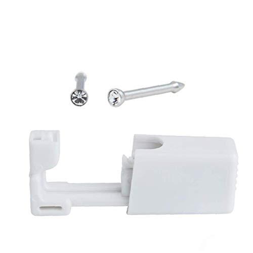 Berrywho Disposable Ear Nose Piercing estéril Pistolas Kit con una función de Herramienta de Seguridad de la Pistola a la perforación aretes para perforar 2set Uso en el hogar - Acero Color