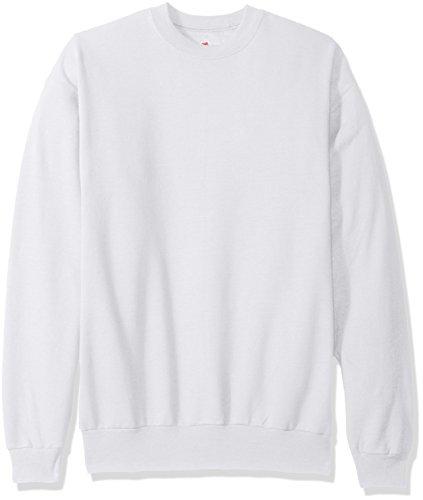Hanes Men's EcoSmart Sweatshirt, white, Large