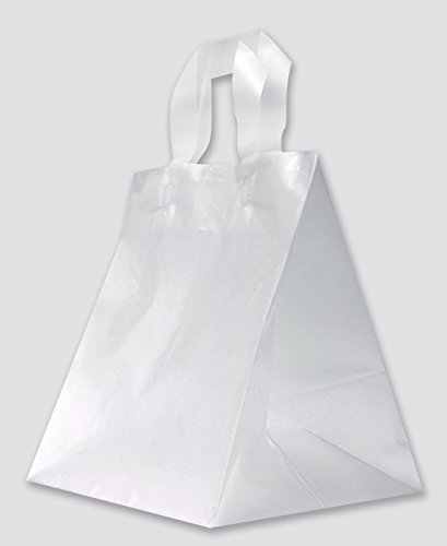 ZT Packaging Take Out New life Bag In a popularity 9 x Plain 10 White Pla 250Pcs 8; 8