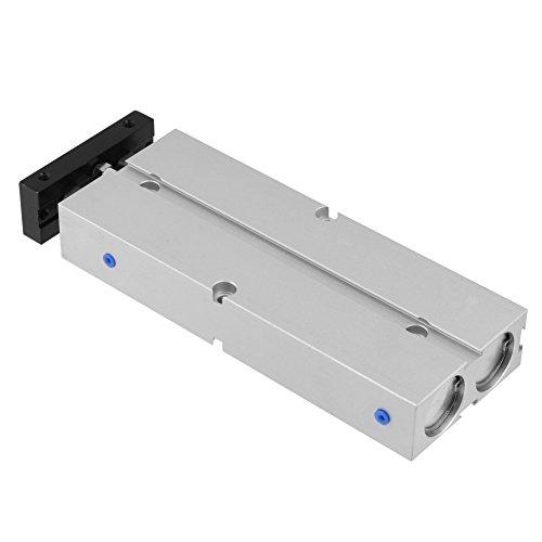 1pc Mini Compacto de Aleación de Aluminio Neumática Aire Cilindro, Cuerpo Redondo, Doble Actuando, Doble Barra, 20 mm Bore 100 mm Stroke
