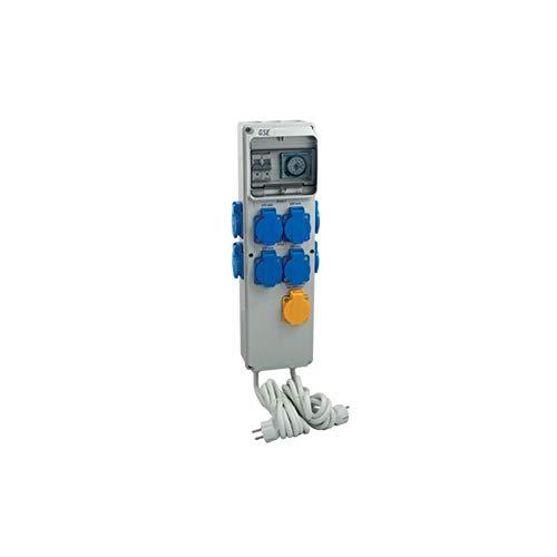 GSE Timer Box III 4 x 600 Watt + Calefacción 220 V - Grow Interior Cultivo Lámparas Control Tubería Ventilador Temporizador Interruptor Ventilador de riego Jardín (8x600 vatios + calefacción 220 V)