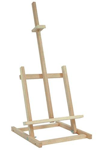 Caballete de madera de haya, atril para pintar, soporte para bocetos, mesa de exposición, duradero, 180 x 62 cm
