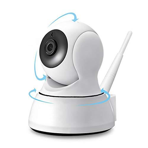 Cámara WiFi para Interiores 1080P, cámara de Monitor de Seguridad para el hogar con visión Nocturna por Infrarrojos, Alerta de Alarma, Almacenamiento SD, cámara automática Inteligente de 360 °