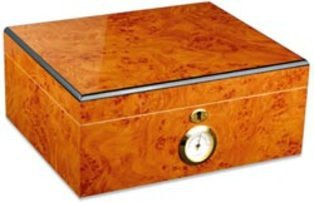 adorini Humidor Palermo - Basic Edition - Zigarren-Kiste mit Hygrometer und Befeuchtungssystem