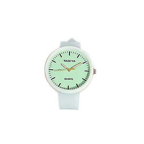 SODIAL Relojes de Cuarzo Luminoso para Ni?Os Reloj Creativo de Gelatina RomáNtica para Ni?As Linda Banda de Silicona Estudiantes de Moda Unisex (Verde)