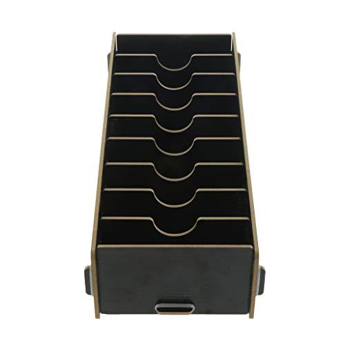 Fenteer Spielkarten Box, Kartenbox Holz Aufbewahrungsbox Karten Speicher - Schwarz