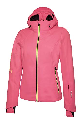 Rh+ IND2842 440XL Logo W Jacket Dames Fluo Roze/Yellow Fluo XL