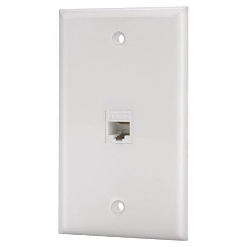 IBL-1 Port Cat6 Keystone Ethernet Female to Female Wall Plate White