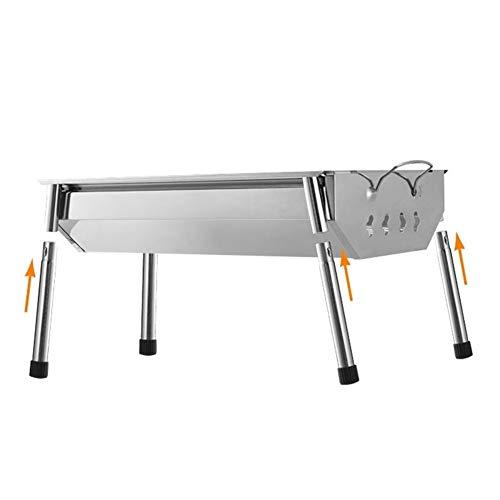 SADDPA 40x28x21cm BBQ-Grill-Grill Edelstahl Folding Tragbare Charcoal Herd Camp im Freien Faltbare Sicher gesund Feste Phase (Size : A)