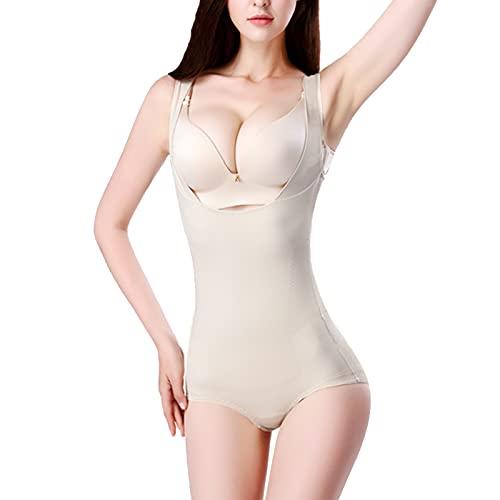 X/L Fajas Moldeadores de Una Pieza Sin Costuras para Mujer Talladora de Cuerpo de Busto Abierto de Talla Grande(Size:XX-Grande,Color:Tono de Piel)