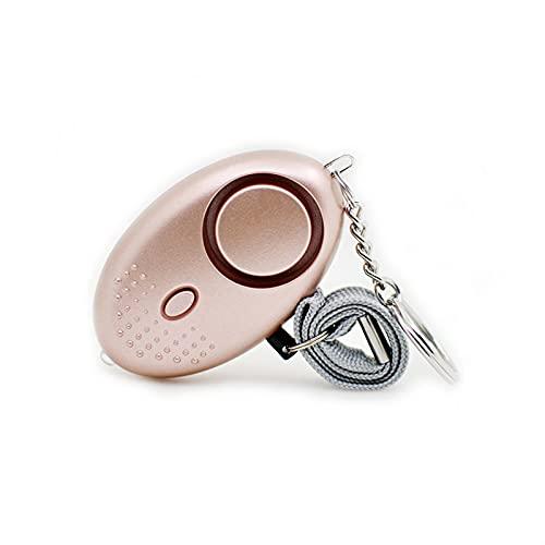 Alarmas personales para mujeres - Policía reutilizable aprobado Llavero de alarmas de seguridad de 130dB con luz LED, Alarma de seguridad personal pequeña para mujeres Niñas - rose gold
