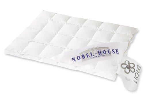 Hanskruchen Nobel House Luxus Daunendecke, Leicht, 90% Daunen / 10% Federchen, 155 x 220 cm