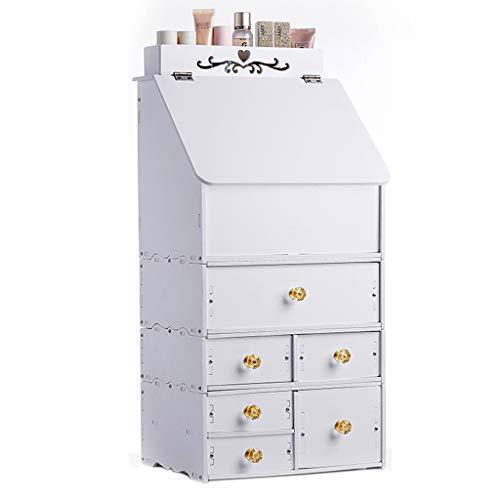 Boîte de rangement cosmétique De Bureau, Boîte De Rangement Multicouche pour La Table De Lavage Boîte De Rangement De Bijoux De Tiroir De Mode (Color : Blanc)