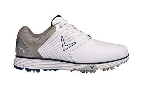Callaway Chev Mulligan S 2019 Zapato de golf impermeable Hombre, Blanco/Azul Marino, 42 EU