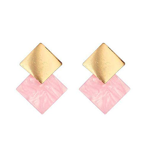 2021 New Korean Acrylic Pink Geometric Earrings for Women Cute Romantic Round Flower Heart Candy Color Fashion Jewelry Brincos-O