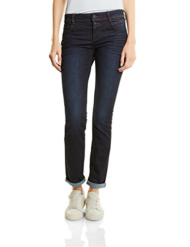 Street One Damen Jane Straight Jeans, Dark Blue Rinsed Optic, 29W 32L EU