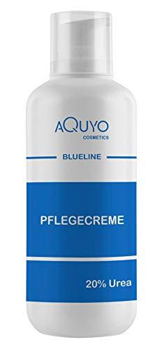 Blueline 20% Urea Creme, Schrundencreme für sehr trockene und verhornte Haut, Pflegecreme bei Schuppenflechte und Neurodermitis, Hornhaut erweicher und Hornhautentferner (500ml)