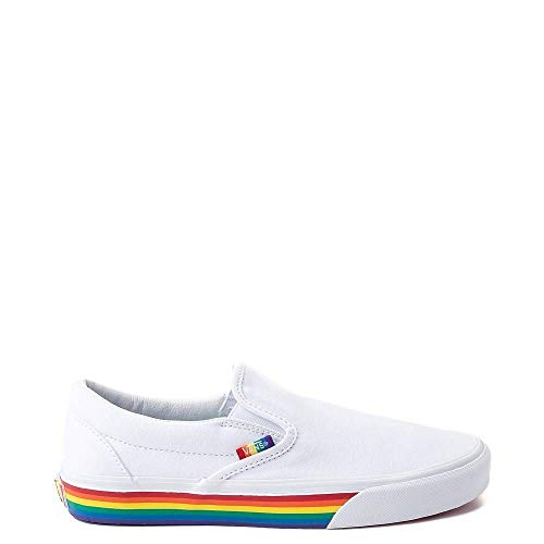 Vans Unisex Authentic Skate Shoe Sneaker (8.5 Women/7 Men, Slip On Rainbow 7364)