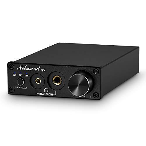 Nobsound ESS9018 USB DAC Opt/Coax Digital to Analog Converter Headphone Amp 24Bit/192kHz