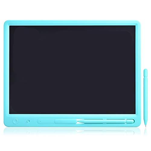 Oslowdf Tablero de Dibujo Gran tamaño 15 Pulgadas LCD Escritura Tableta Tablero de Pantalla Memo Tablero Mensaje Pad Educación Juguetes Negocios Negocio para niños y Adultos (Color : Colors Black)